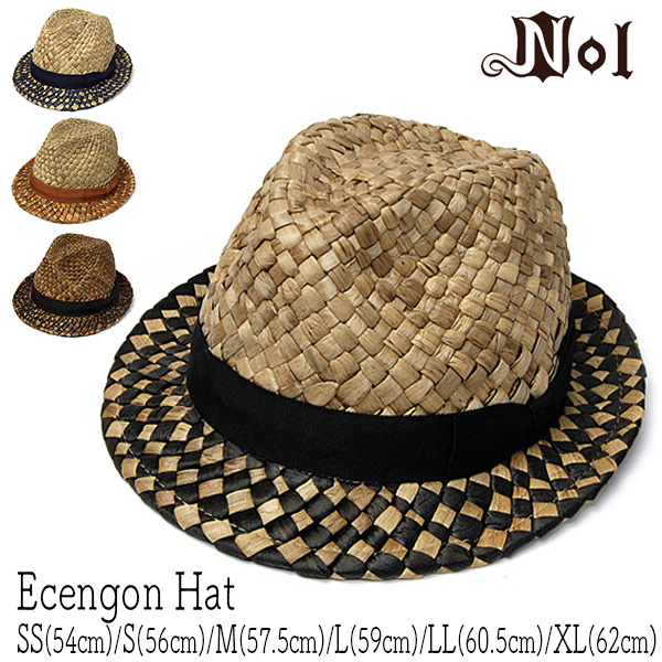 NOL(ノル)ストロー中折れ帽[ECENGON HAT]