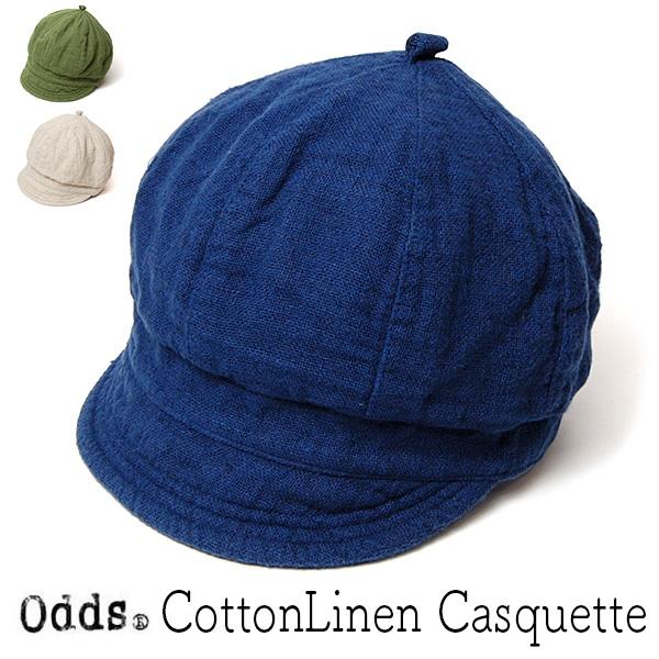 """""""odds(オッズ)"""" コットンリネンキャスケット"""