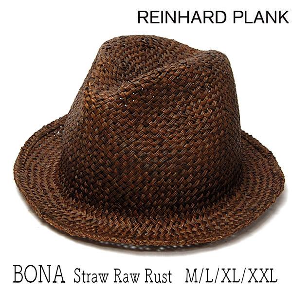 """イタリア""""REINHARD PLANK(レナード プランク)""""ストロー中折れ帽(BONA STRAW RAW RUST)"""