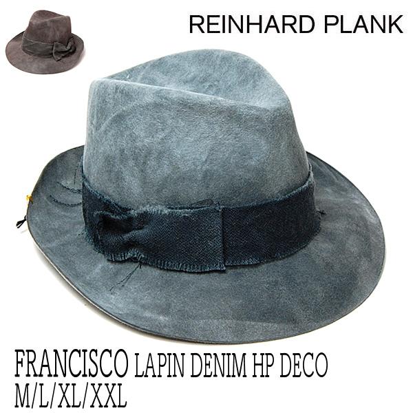 REINHARD PLANK(レナード プランク)ファーフエルト中折れ帽 FRANCISCO LAPAN DENIM HP DECO