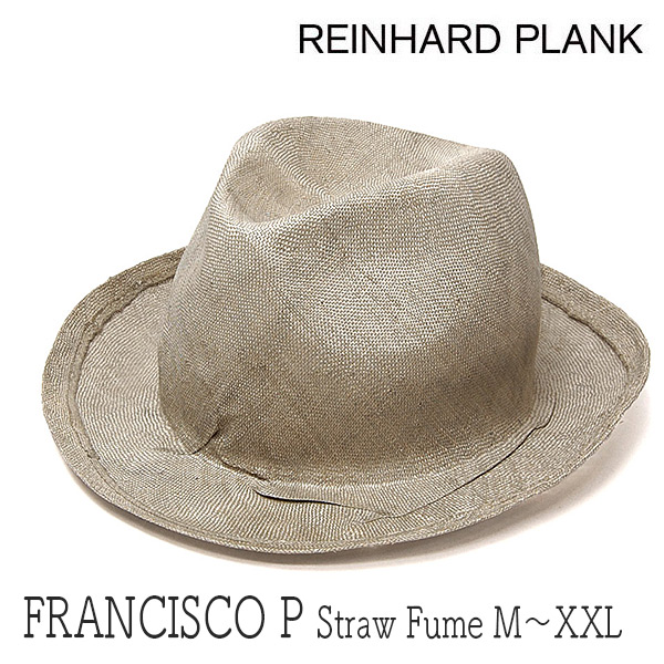 """イタリア""""REINHARD PLANK(レナード プランク)""""ストロー中折れ帽(FRANCISCO STRAW FUME)"""