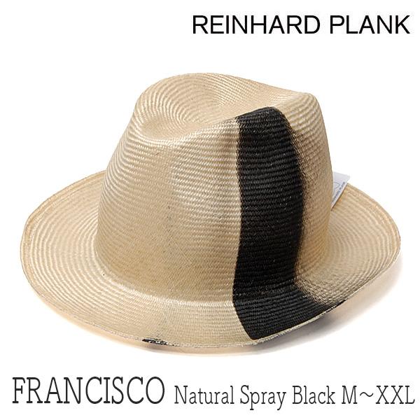 イタリアREINHARD PLANK(レナード プランク)ストロー中折れ帽[FRANCISCO STRAW PARA NATURAL SPRAY BLACK]