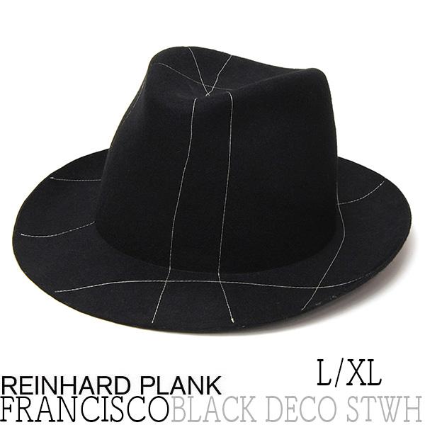 REINHARD PLANK(レナード プランク)ファーフエルト中折れ帽FRANCISCO BLACK DECO STWH
