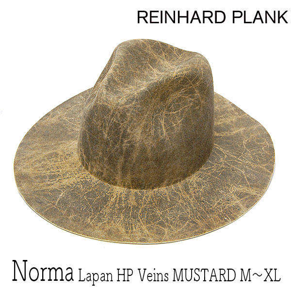 REINHARDPLANK ファーフエルトハットNORMA LAPAN HP VEINS MUSTARD