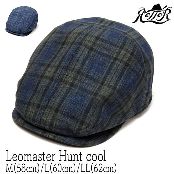 "Retter(レッター)""リネンチェックハンチング(Leomaster Hunt Cool)"