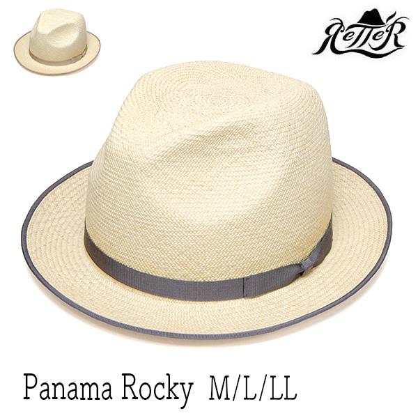"""【アウトレットS】""""Retter(レッター)""""パナマ中折れ帽[Panama Rocky][ハット]  【送料無料】[大きいサイズの帽子アリ] 【コンビニ受取対応】 (kaw-re-1804004)"""