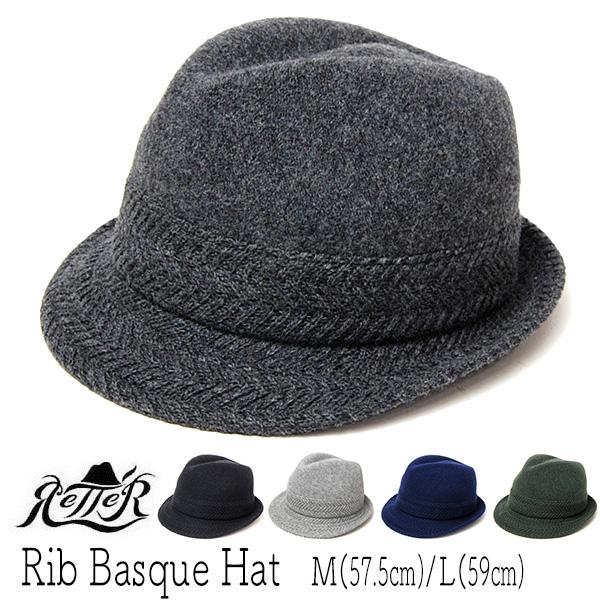 """""""Retter(レッター)""""ウールニット中折れ帽 RIB BASQUE HAT"""