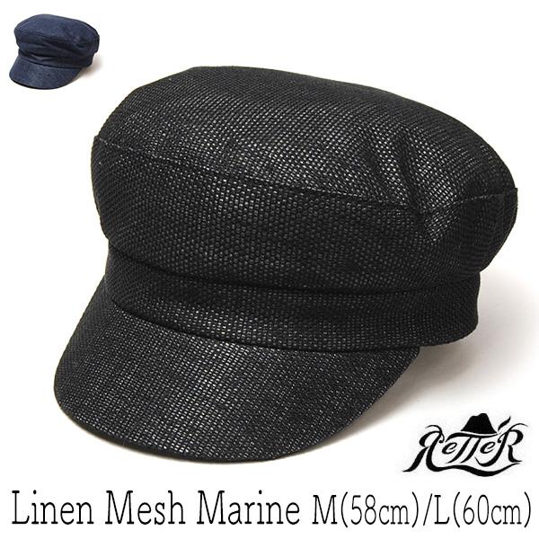 Retter(レッター) リネンマリンキャップ Linen Mesh Marine