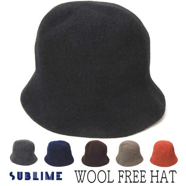 """""""SUBLIME(サブライム)"""" ウールバスクハット FREE HAT"""