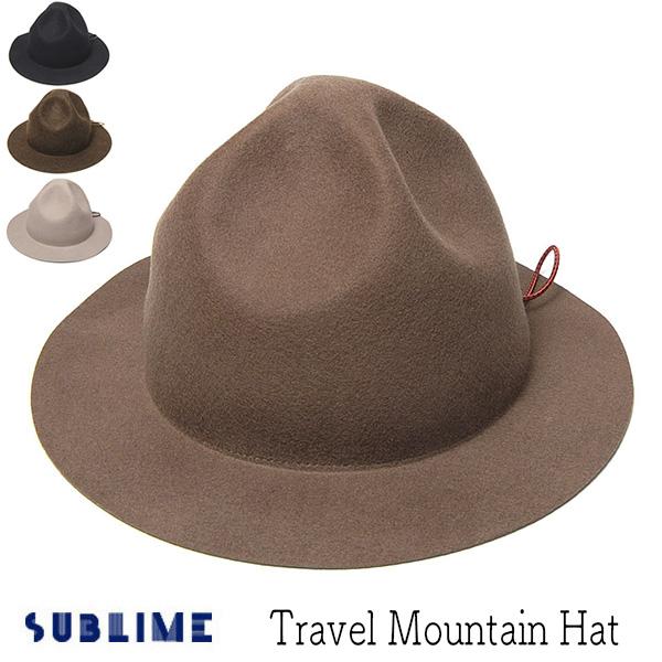 """""""SUBLIME(サブライム)"""" ウールフエルトマウンテンハット TRAVEL MOUNTAIN HAT"""