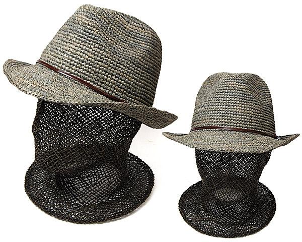 細編みラフィア中折れ帽
