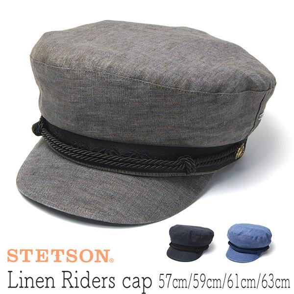 """""""STETSON(ステットソン)"""" リネンマリンキャップ Riders Cap"""
