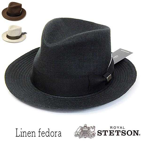 ROYAL STETSON(ステットソン)リネン中折れ帽SE078