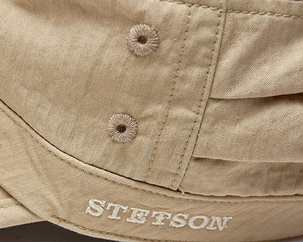 """ROYAL STETSON(ステットソン)""ヘリンボーンドゴールキャップ[SE452]"