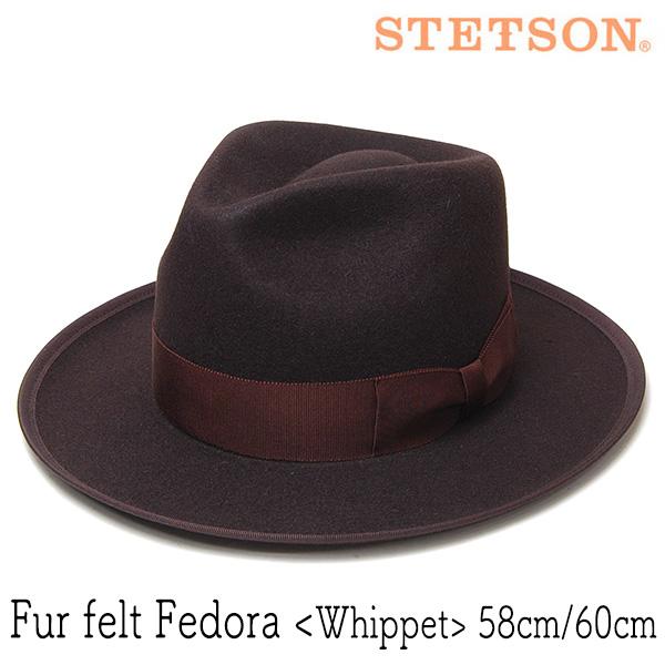 """STETSON(ステットソン)"" ファーフエルト中折れ帽 WHIPPET"
