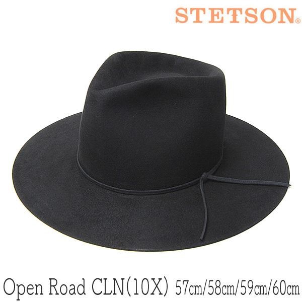 STETSON ステットソン ビーバーフェルト中折れ帽 OPEN ROAD オープンロード
