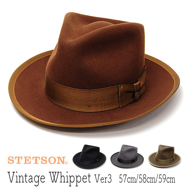 """アメリカ""""STETSON(ステットソン)""""ウールフエルト中折れ帽[VINTAGE WHIPPET Ver3]"""