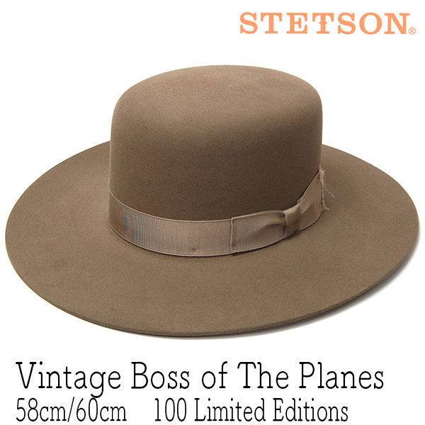 STETSON(ステットソン)ファーフエルトハットVINTAGE BOSS OF THE PLANESL ST200