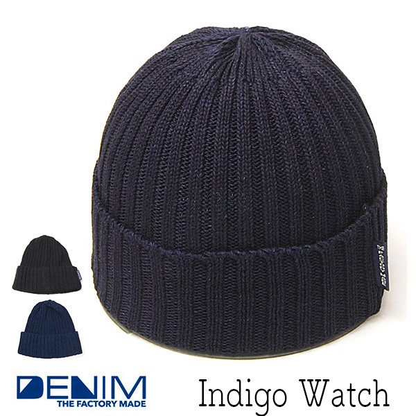 THE FACTORYMADE ファクトリーメイド インディゴニットキャップ ニット帽