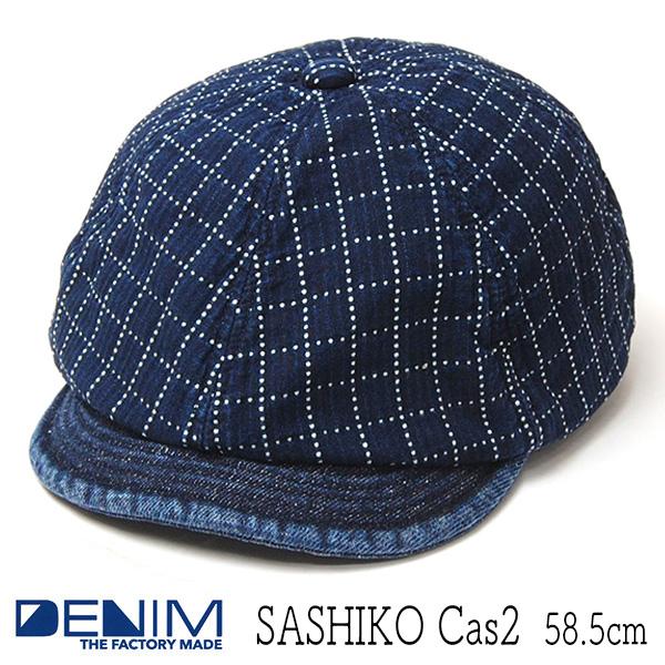 """THE FACTORY MADE(ザファクトリーメイド)"" コットン6枚はぎハンチング SASHIKO CAS 2"