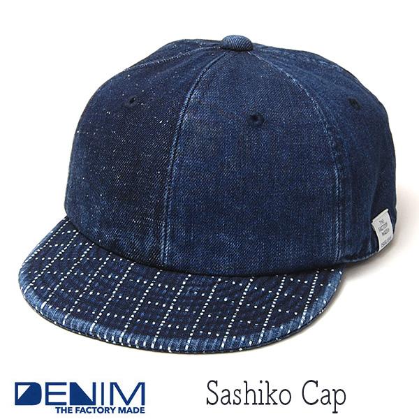 """""""THE FACTORY MADE(ザファクトリーメイド)"""" デニムキャップ SASHIKO CAP"""