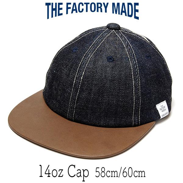 """THE FACTORY MADE(ザファクトリーメイド)"" 革つばデニムキャップ [14oz Cap]"