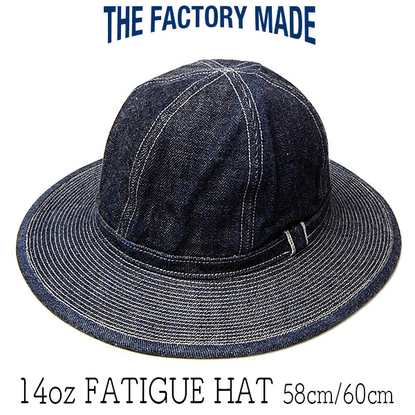 "?""THE FACTORY MADE(ザファクトリーメイド)"" デニムファティーグハット [14oz FATIGUE HAT]"