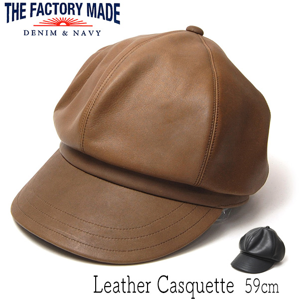 """THE FACTORY MADE(ザファクトリーメイド)"" レザーキャスケット Leather Cas"
