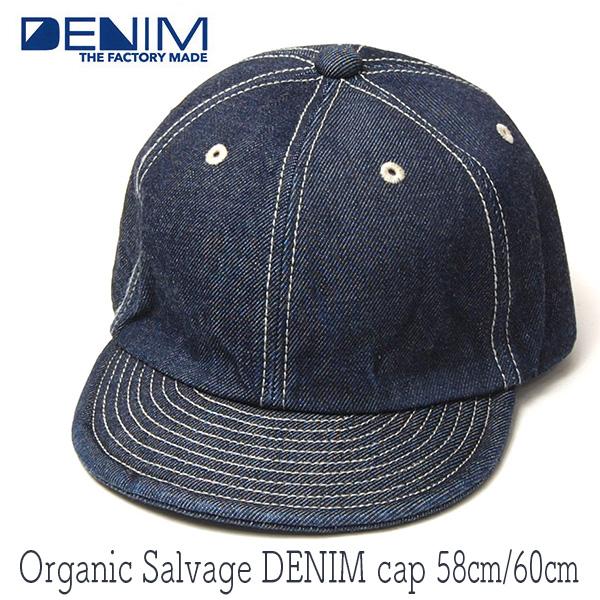 """THE FACTORY MADE(ザファクトリーメイド)"" デニムキャップ Organic Selvage DENIM Cap FM597"