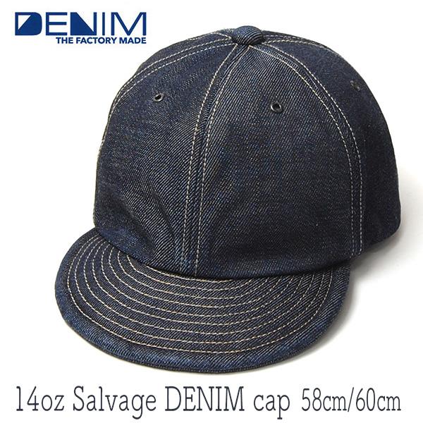"""THE FACTORY MADE(ザファクトリーメイド)"" デニムキャップ 14oz Selvage DENIM Cap FM598"