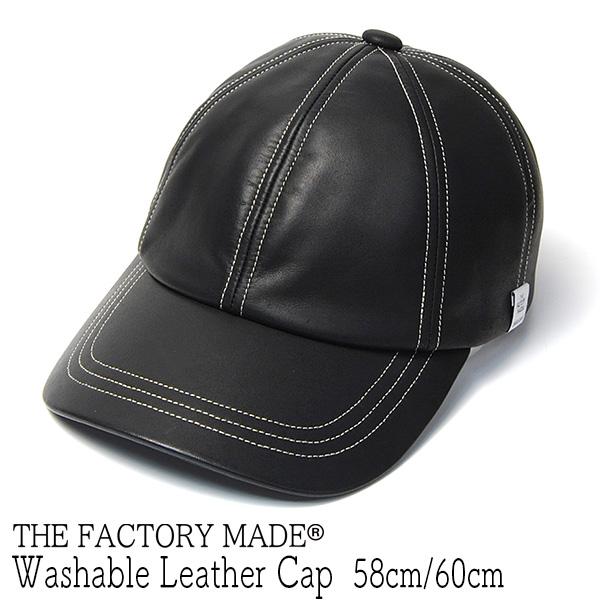"""THE FACTORY MADE(ザファクトリーメイド)"" ウォッシャブルレザーキャップ Leather Stitch Cap"