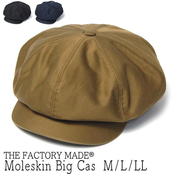 """THE FACTORY MADE(ザファクトリーメイド)"" コットン8枚はぎハンチング Moleskin Big Cas"
