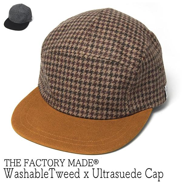 """THE FACTORY MADE(ザファクトリーメイド)"" ウォッシャブルツイードキャップ WashableTweedxUltrasuede Cap"