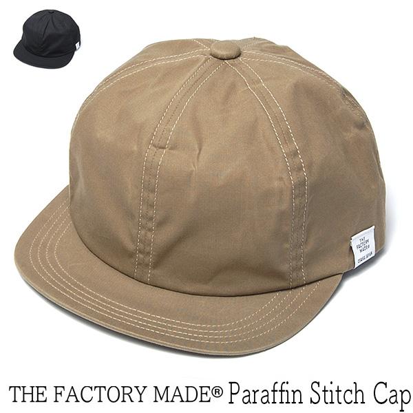 """THE FACTORY MADE(ザファクトリーメイド)"" パラフィンコットンキャップ Paraffin Stitch Cap"