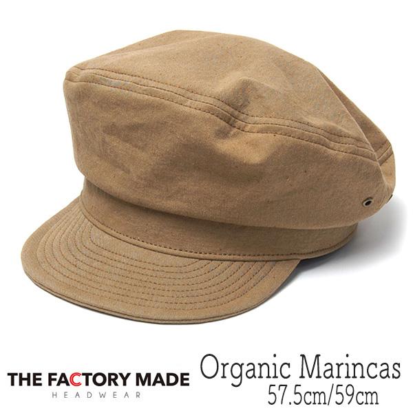 """THE FACTORY MADE(ザファクトリーメイド)"" オーガニックコットンマリンキャップ Organic marinecas"