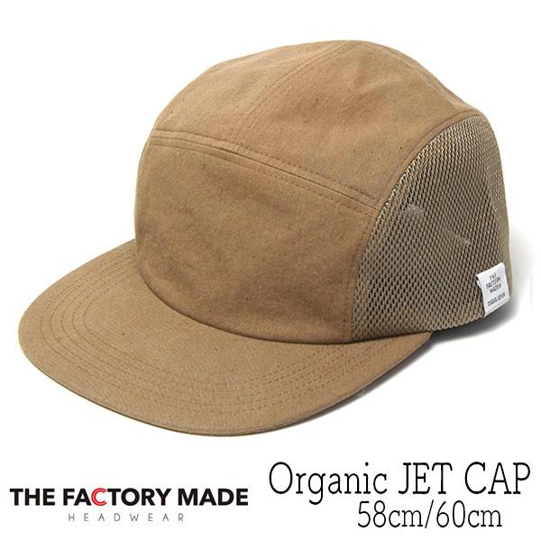 """THE FACTORY MADE(ザファクトリーメイド)"" オーガニックコットンジェットキャップ Organic JET CAP"
