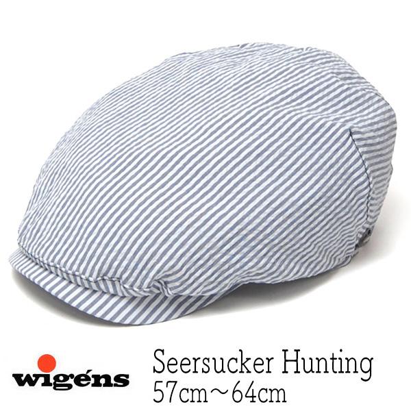 """スウェーデン""""WIGENS(ヴィーゲン)"""" シアサッカーハンチング Ivy Onepiece Cap"""