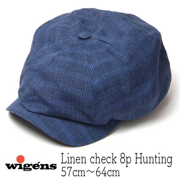 """スウェーデン""""WIGENS(ヴィーゲン)"""" リネンチェック8枚はぎハンチング Newaboy Classic Cap"""