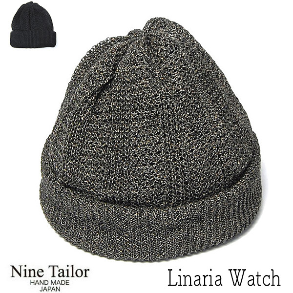 """""""NINE TAILOR(ナインテイラー)"""" リネンニットキャップ LinariaWatch"""