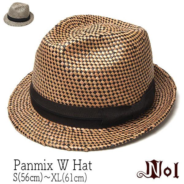 NOLノル ストロー中折れ帽 PANMIX W HAT