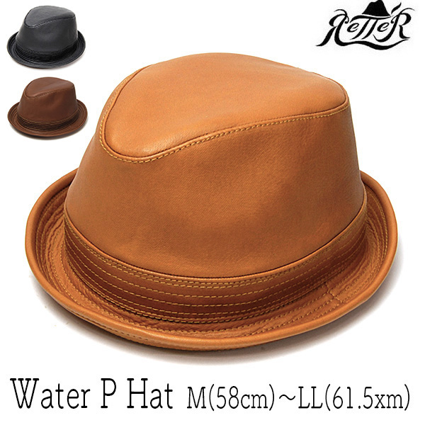 """Retter(レッター)"" 撥水レザー中折れ帽 [Water P Hat]"
