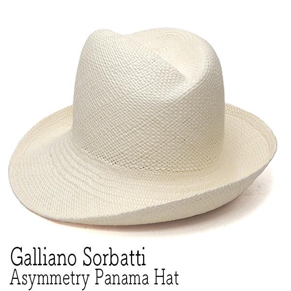 """""""Galliano Sorbatti(ガリアーノ ソルバッティ)"""" アシンメトリーパナマハット?"""