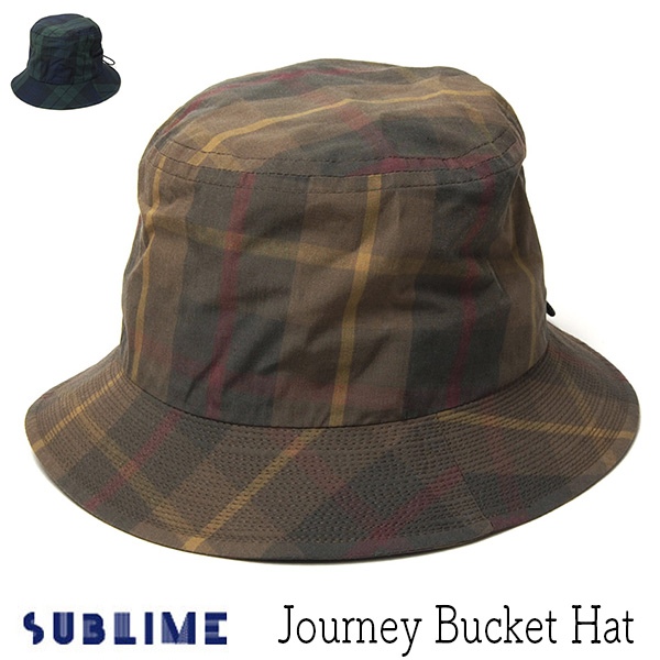 """SUBLIME(サブライム)"" チェックバケットハット Journey Bucket Hat"