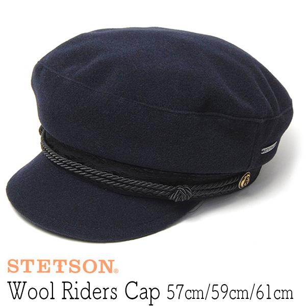 """""""STETSON(ステットソン)"""" ウールマリンキャップ Riders Cap"""