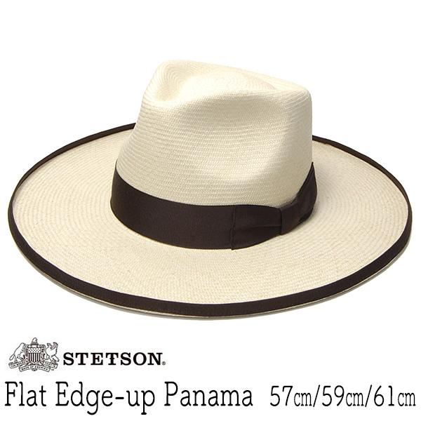 """アメリカ""""STETSON (ステットソン)"""" つば広パナマ中折れ帽"""