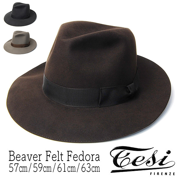 TESI(テシ)ビーバーファーフェルト中折れ帽