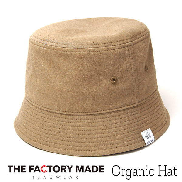 """THE FACTORY MADE(ザファクトリーメイド)"" オーガニックコットンバケットハット Organic Hat?"