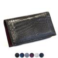 【ナイルクロコダイル/ヌメ革】 シンプルで機能的 長財布 lgw001