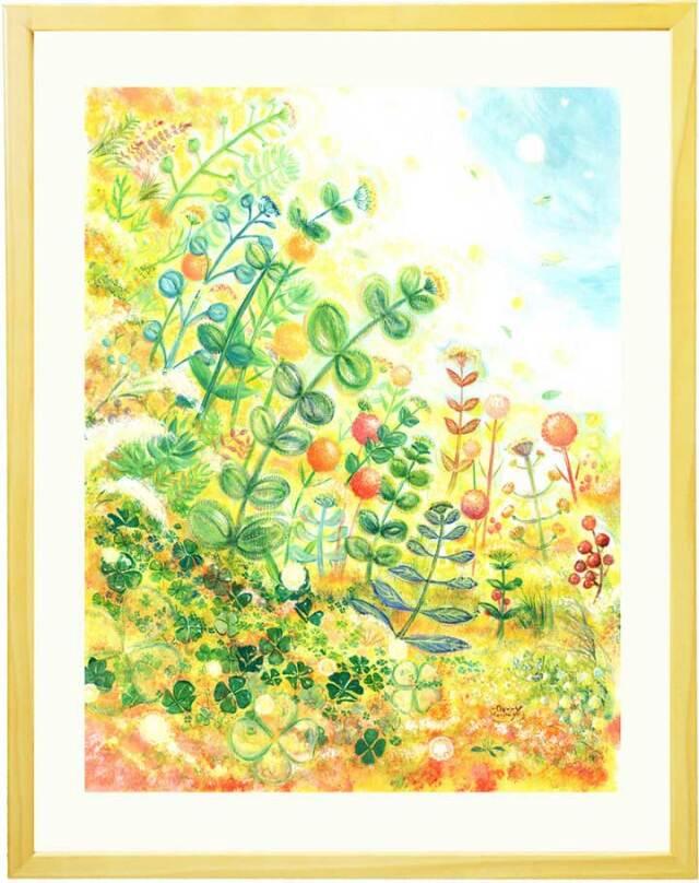 観葉植物 絵画 ボタニカルアート 植物の絵画 グリーン おしゃれ 絵画 玄関 風水 リビング 壁掛け絵画 額入り プレゼント