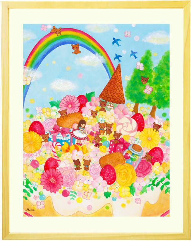 クマと女の子・お姫様のロマンティックな絵画